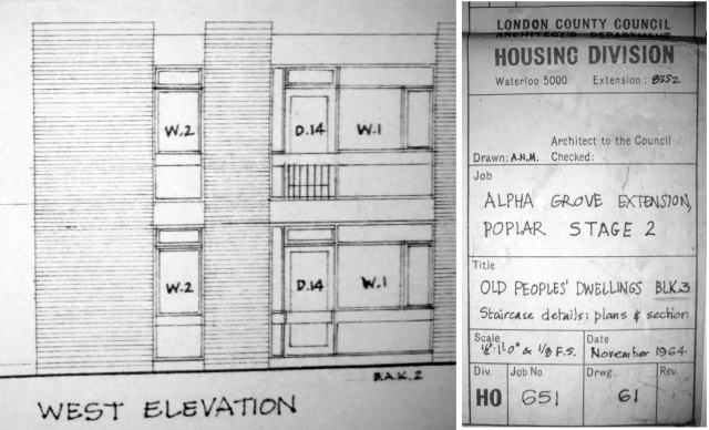 Extract of original architectural drawings.