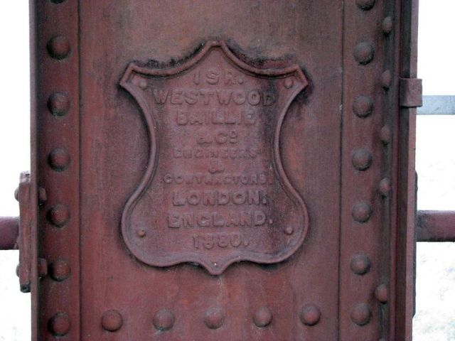 Westwood, Baillie and Company's crest, still attached to the bridge