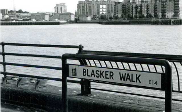Blasker Walk, on the river behind Burrell's.
