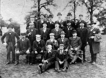1900 Jolly Boys Outing, Maurice John Sexton on the right