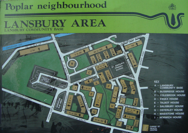 Lansbury Estate signboard