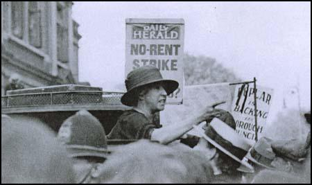 Julia Scurr speaking at a rally