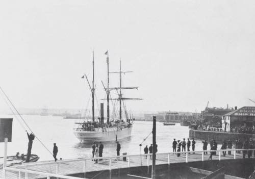 Outside the entrance to West India Docks