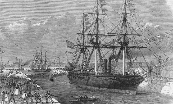 1867 opening Millwall Docks 15684700925