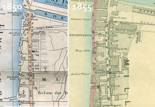 1850 millwall map