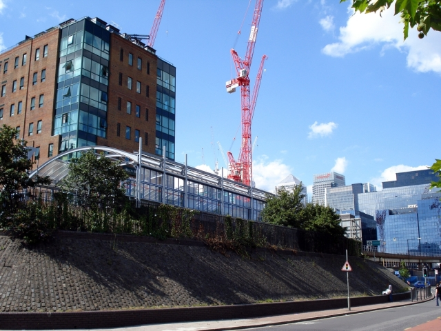 Recent view of the same spot, now Crossharbour DLR Station.