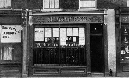 Arthur Bush, Printers, 71 Westferry Road 26442409373